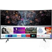 Samsung 55 Inches Curved Smart Sat 4K Ultra HD LED Tele | TV & DVD Equipment for sale in Greater Accra, Adabraka