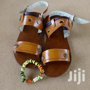 Handmade Men Leather Sandals With Free Bead Bracelet: Lampsang 2 | Shoes for sale in Ashanti, Kumasi Metropolitan