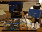 Sony Playstation 4 Pro Black Console With Headset And 2 Controller | Video Game Consoles for sale in Western Region, Ahanta West