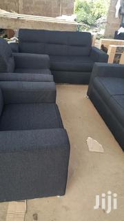 Pure Black Sofa (Free Delivery ) | Furniture for sale in Greater Accra, Nungua East