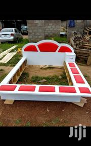 Red And White Bed | Furniture for sale in Greater Accra, Kokomlemle