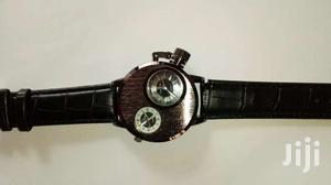 Double Display Leather Wrist Watch