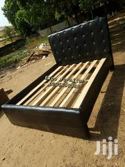 4G Black 🖤 Double Leather Bed 💖💖🖤🛏💯🏡👍   Furniture for sale in Greater Accra, Kotobabi
