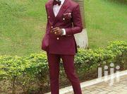 Wine Double Breasted Suit | Clothing for sale in Greater Accra, East Legon