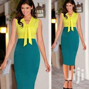 Sleeveless Splicing Ribbon Bow Pencil Skirt Dress | Clothing for sale in Greater Accra, Accra Metropolitan