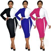 Stitching Strap Zipper Long Sleeve Slim Dress | Clothing for sale in Greater Accra, Accra Metropolitan