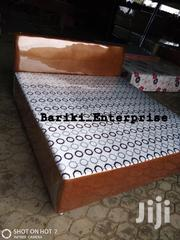 Queen Size Leather Bed | Furniture for sale in Greater Accra, Achimota