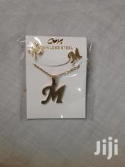 Letter Necklace With Earrings | Jewelry for sale in Greater Accra, North Kaneshie