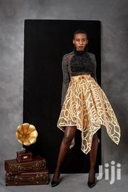Assymetric Gold Organza Skirt With Double Waist Band and Brooch | Jewelry for sale in Greater Accra, Korle Gonno