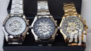 Titanium Watch, Engine Skeleton Mechanical Watch In BOX, Gold & Silver | Watches for sale in Greater Accra, Nungua East