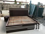 Nice Quality Queen Size Bed With Side Drawers   Furniture for sale in Greater Accra, Abelemkpe