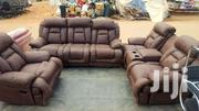 Sofa Reclining Leather One Full Set From The UK We Have 5 Set In Stk | Furniture for sale in Greater Accra, Kwashieman