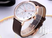 Mini Focus Brown Leather Wrist Watch | Watches for sale in Greater Accra, Nungua East