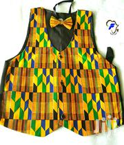 African Print Waist Coat With Free Bow Tie | Clothing for sale in Greater Accra, Accra Metropolitan