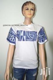 T Shirt With African Fabric And Design Available In Various Sizes | Clothing Accessories for sale in Greater Accra, Nungua East