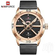 Naviforce 9155 Sports Waterproof Stainless Steel for Men - Black Gold | Watches for sale in Ashanti, Kumasi Metropolitan