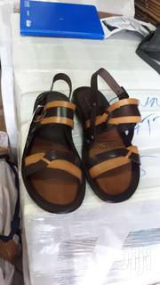 Brown And Light Brown Color Italian Leather Sandal   Shoes for sale in Greater Accra, Okponglo