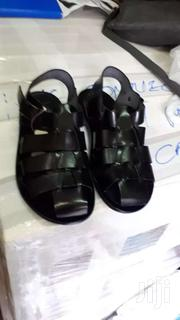 Black Color Italian Leather Cover Sandals   Shoes for sale in Greater Accra, Okponglo