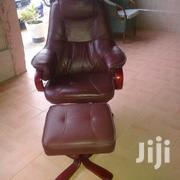 Leather Swivel Chair With Footrest | Furniture for sale in Greater Accra, Kwashieman
