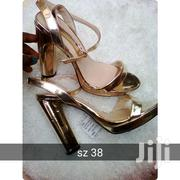 Gold Platform Block Heels 38sz | Shoes for sale in Greater Accra, Accra Metropolitan
