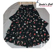 Ruffled Floral Skirt in Size 10 and 12 | Clothing for sale in Greater Accra, Labadi-Aborm