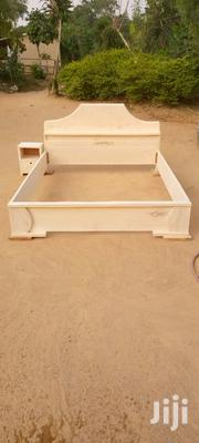 Brand New Wooden Double Bed With Bedside Cabinets | Furniture for sale in Greater Accra, North Kaneshie