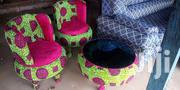 Center Tables And Chairs Made With African Prints | Furniture for sale in Eastern Region, Kwahu West Municipal
