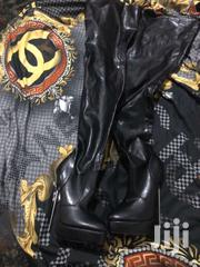 Platform Leather Boots For Ladies | Shoes for sale in Greater Accra, Adenta Municipal