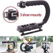 3 Hot Shoes Mount PRO Photography Video Camera Grip Stabilizer Bracket | Photo & Video Cameras for sale in Greater Accra, Accra Metropolitan