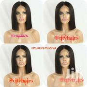 Fibre Blunt Cut Hair Lace Wig Made With Closure | Hair Beauty for sale in Greater Accra, Accra Metropolitan