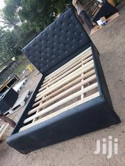 Black Leather Double Bed Available | Furniture for sale in Greater Accra, Alajo