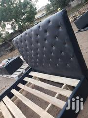 Brand New Black Design Bed | Furniture for sale in Greater Accra, Burma Camp
