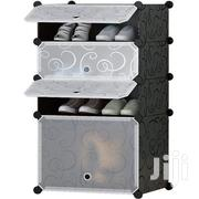 4 Portable Cubes Shoe Rack - Black   Furniture for sale in Greater Accra, Achimota