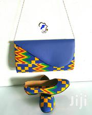 African Purse With Flat Shoe | Shoes for sale in Greater Accra, Accra Metropolitan