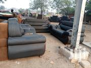 Blue Black Leather Sofa | Furniture for sale in Greater Accra, Tema Metropolitan