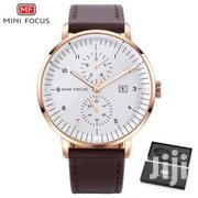 Mini Focus Leather Watch + Box | Watches for sale in Greater Accra, Tema Metropolitan