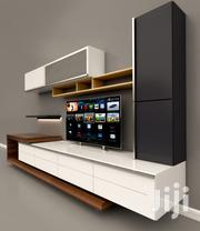 Black + White Tv Unit | Furniture for sale in Greater Accra, Ga South Municipal