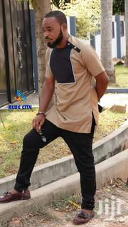 BLUE CITY Brown And Black Mens Shirt|Casual Outfit|Kaftan | Clothing for sale in Greater Accra, Odorkor