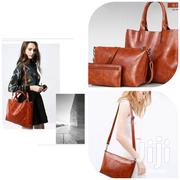 Brown Oil Skin Leather Bag Set | Bags for sale in Greater Accra, Achimota