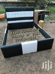 Design Black and White Double Leather Bed 💖 | Furniture for sale in Greater Accra, East Legon