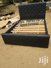 Black Double Leather Bed 🛏 💖 | Furniture for sale in Greater Accra, Dansoman