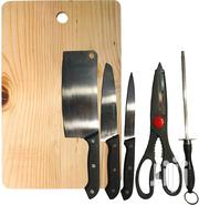 6 - Piece Kitchen Knife Set With Wooden Chopping Board | Furniture for sale in Greater Accra, East Legon (Okponglo)