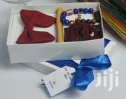 BLUE CITY Burgandy And Gold Butterfly Bow Tie Gift Set Package | Clothing Accessories for sale in Greater Accra, Odorkor