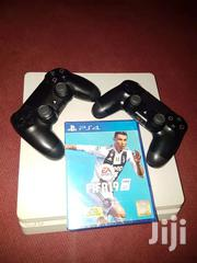 PS4 SLIM Plus 2 Controllers And FIFA 19 CD | Video Game Consoles for sale in Ashanti, Kumasi Metropolitan