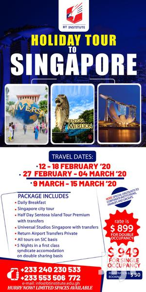 Holiday Tour To Singapore