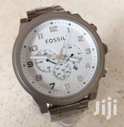Original Fossil Silver Chronograph Watch | Watches for sale in Greater Accra, Nungua East
