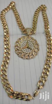 Italian Gold Chain With Benz Pendant | Jewelry for sale in Greater Accra, Ga East Municipal