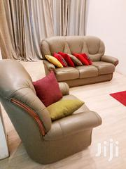 Neat Quality Leather Sofa | Furniture for sale in Greater Accra, Airport Residential Area