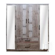 Wooden Wardrobe 4 Doors With 2 Mirrors | Furniture for sale in Greater Accra, Achimota