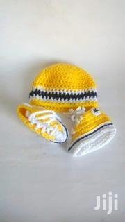 Handmade Crochet Inspire Baby Sneakers And Hat | Children's Shoes for sale in Greater Accra, Adenta Municipal